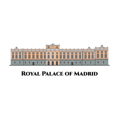 Royal Palace in Madrid, Spain. The official residence of the Spanish royal family. The largest functioning royal palace in Europe. Good destination for tourist vacancy and enjoy holiday.