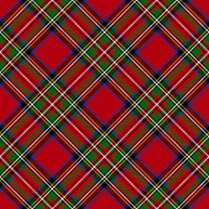 Royal Stewart Modern Tartan Seamless Pattern