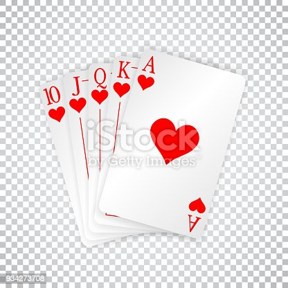 istock A royal straight flush playing cards poker hand in hearts 934273708