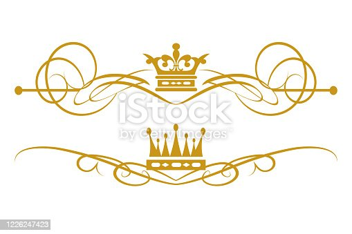 istock Royal Style Design Elements Gold On 1226247423