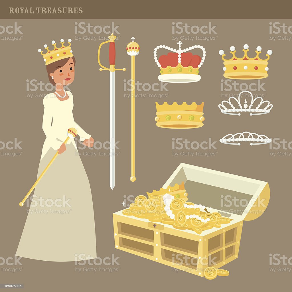 Royal Treasures royalty-free stock vector art