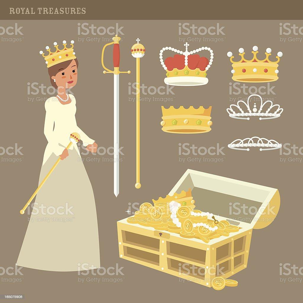 Royal Treasures vector art illustration