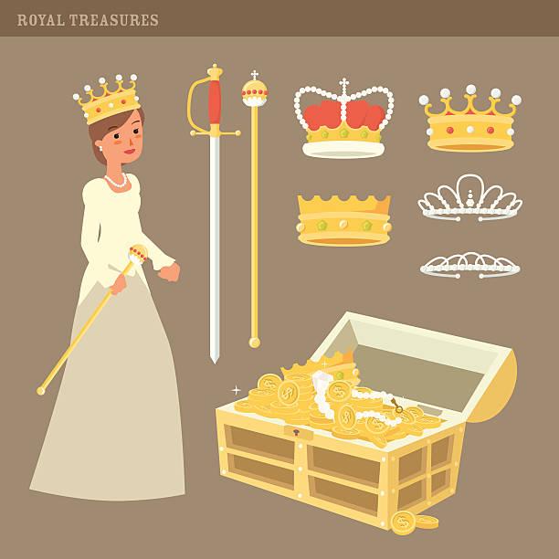 illustrations, cliparts, dessins animés et icônes de royal trésors - sceptre