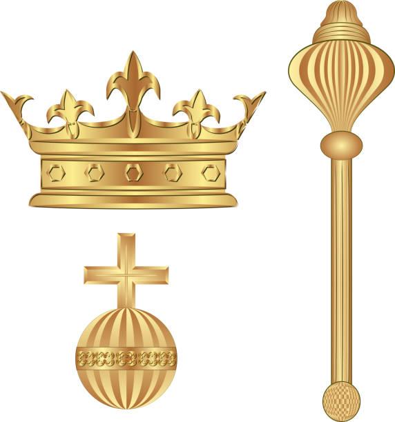 illustrations, cliparts, dessins animés et icônes de ventre royal - sceptre