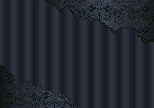 Royal, vintage, Gothic background in black