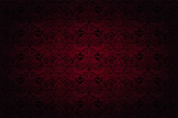 皇家, 復古, 哥特式背景在深紅色和黑色 - 錦緞 幅插畫檔、美工圖案、卡通及圖標