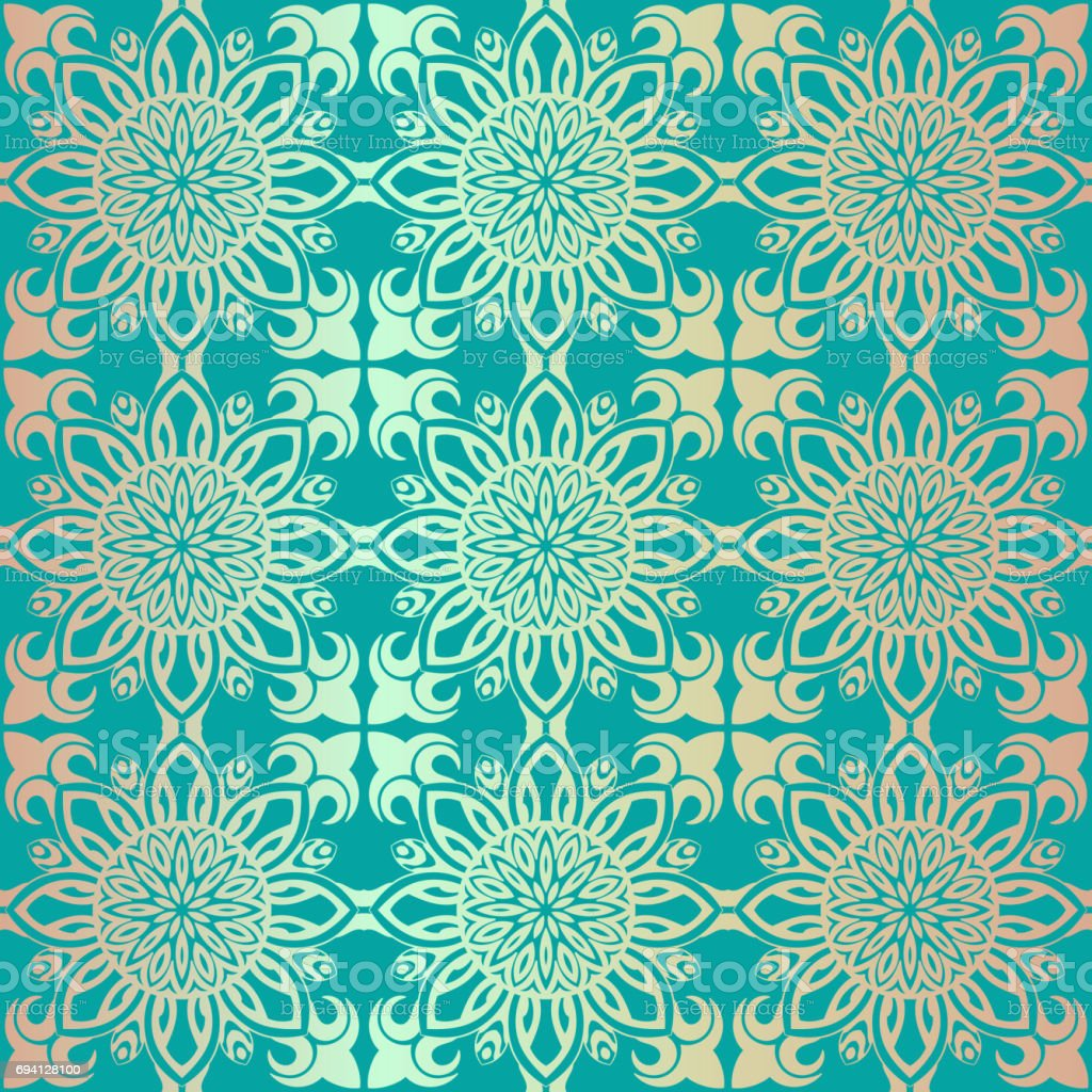 Royal Wallpaper Seamless Floral Pattern Luxury Background Stock