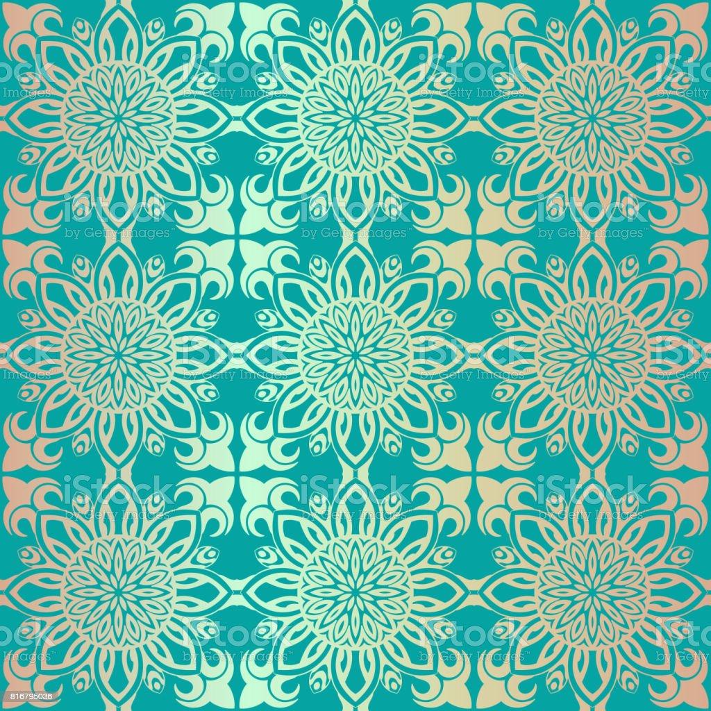 Royal Sans Couture Papier Peint Motif Fleuri Fond De Luxe Cliparts