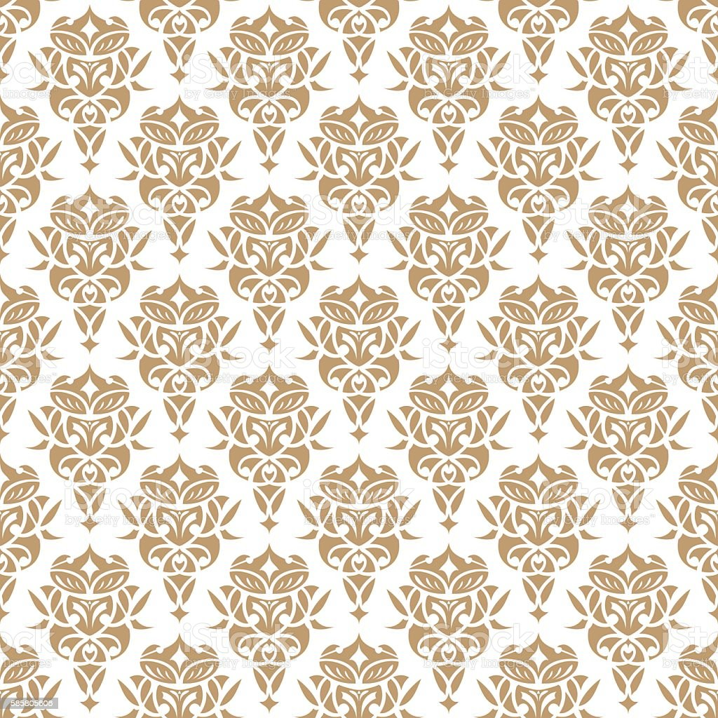 Royal Wallpaper Seamless Pattern Crown And Decorative Elements Luxury Background Royalty Free