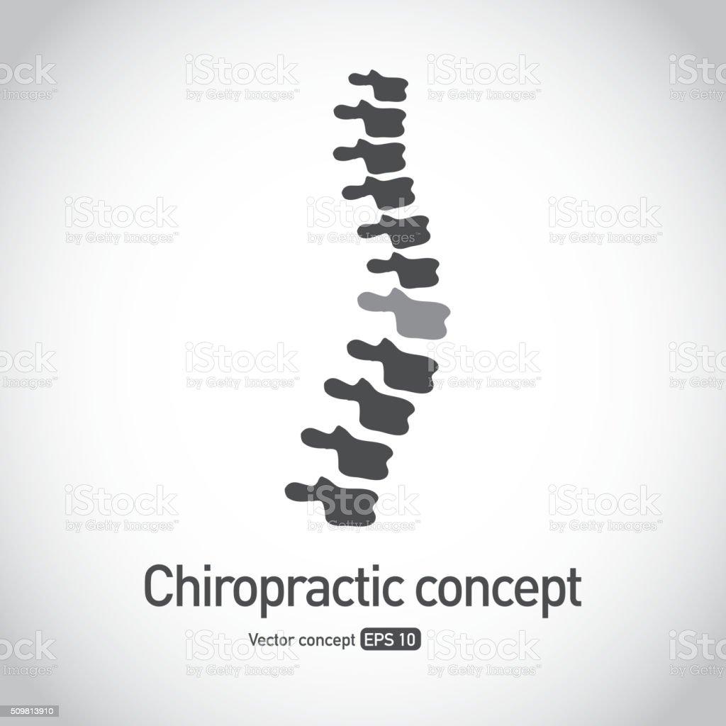ロイヤリティフリーのカイロプラクティック脊椎コンセプトアイコンシンボル ベクターアートイラスト