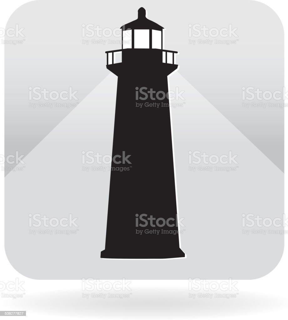 Royalty free lighthouse icon vector art illustration