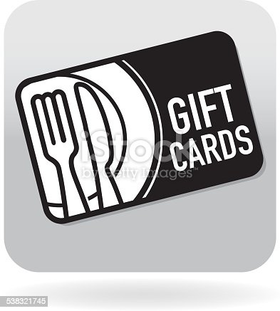 istock Royalty free restaurant food simple gift card swipe card icon 538321745