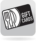 istock Royalty free restaurant food simple gift card swipe card icon 538321745