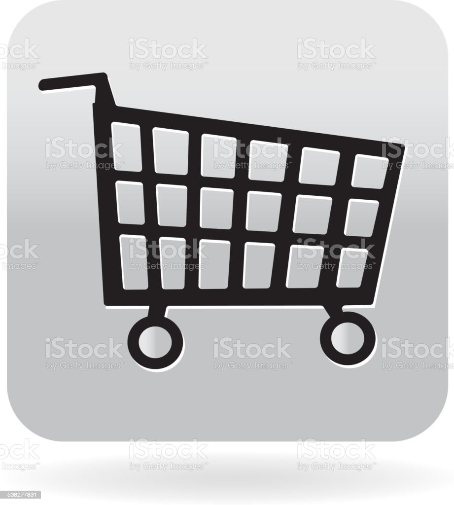 Royalty free Shopping cart icon vector art illustration