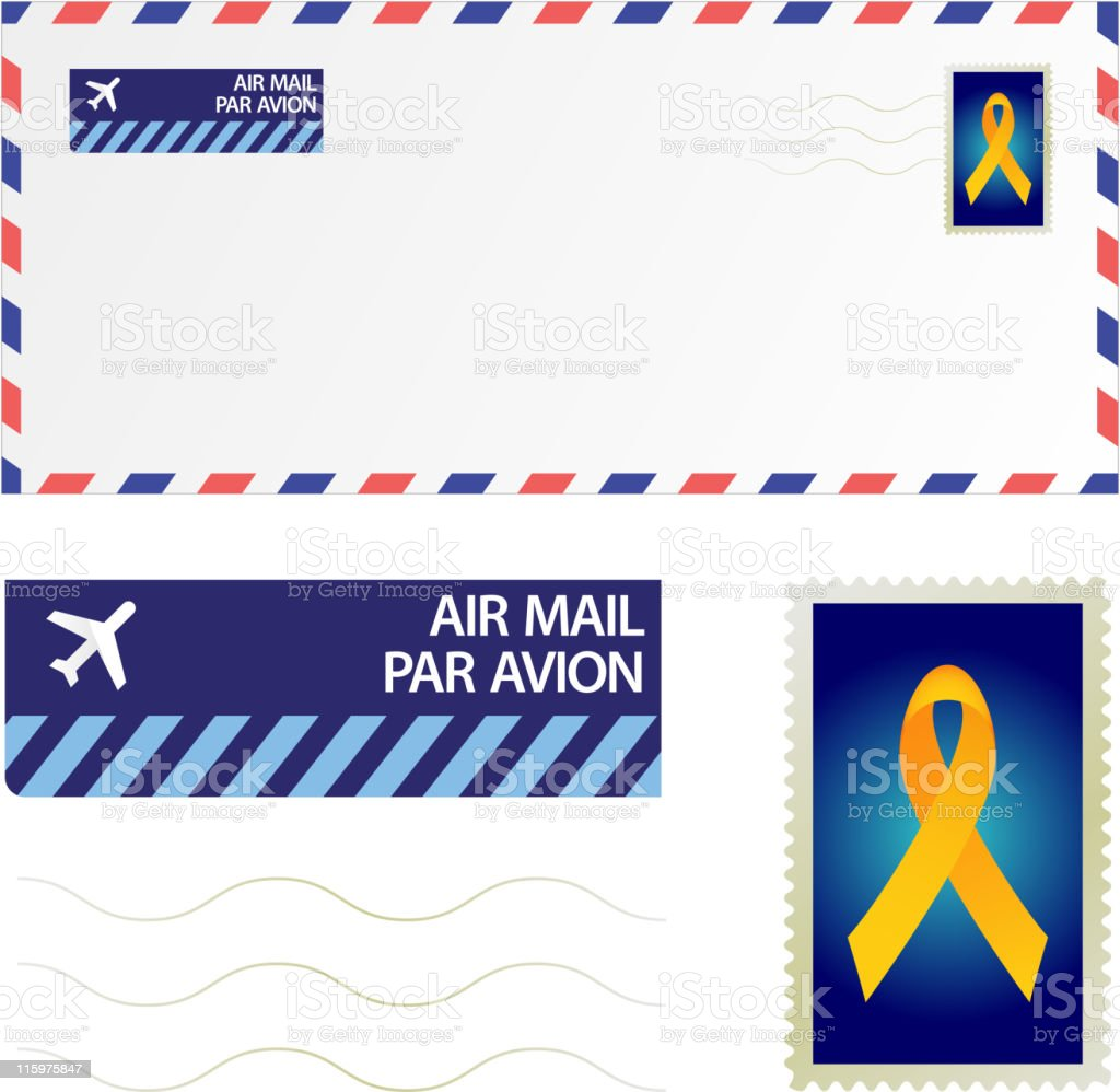 royalty free vector Airmail royalty-free royalty free vector airmail stock vector art & more images of air mail