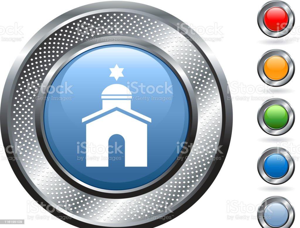 royalty free vector art on metallic button royalty-free stock vector art