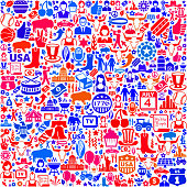 USA royalty free vector art Pattern on Seamless Background
