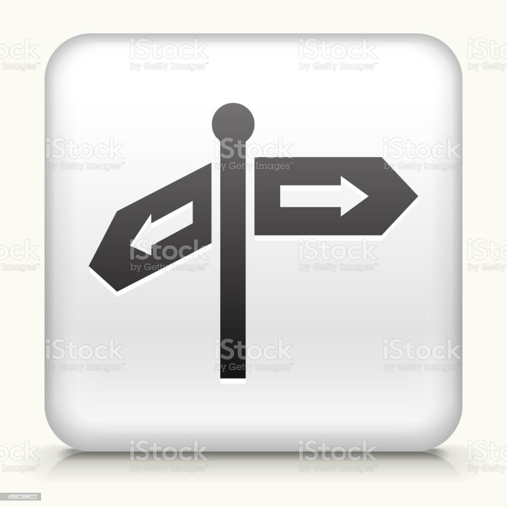 Royalty Free Vector Icon Button With Direction Arrow Signs