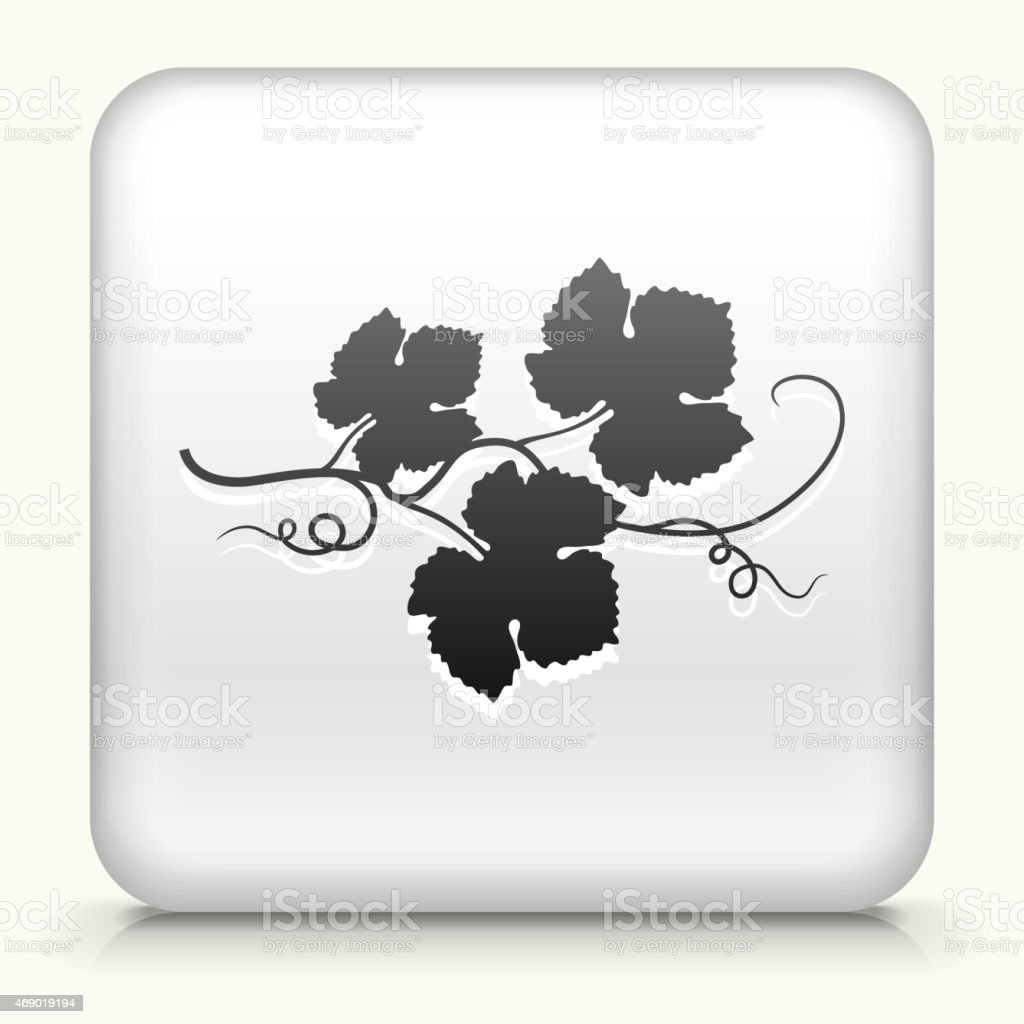 Royalty free vector icon button with Grape Leaves Icon vector art illustration