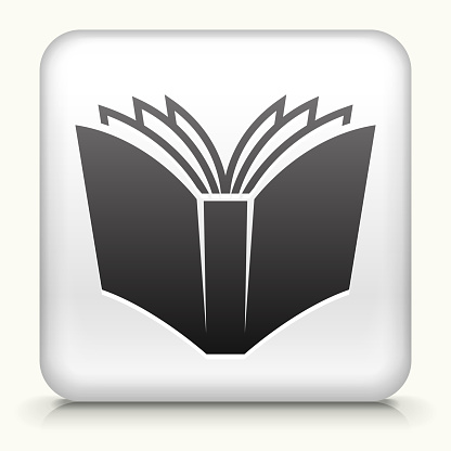 Royalty free vector icon button with Open Book