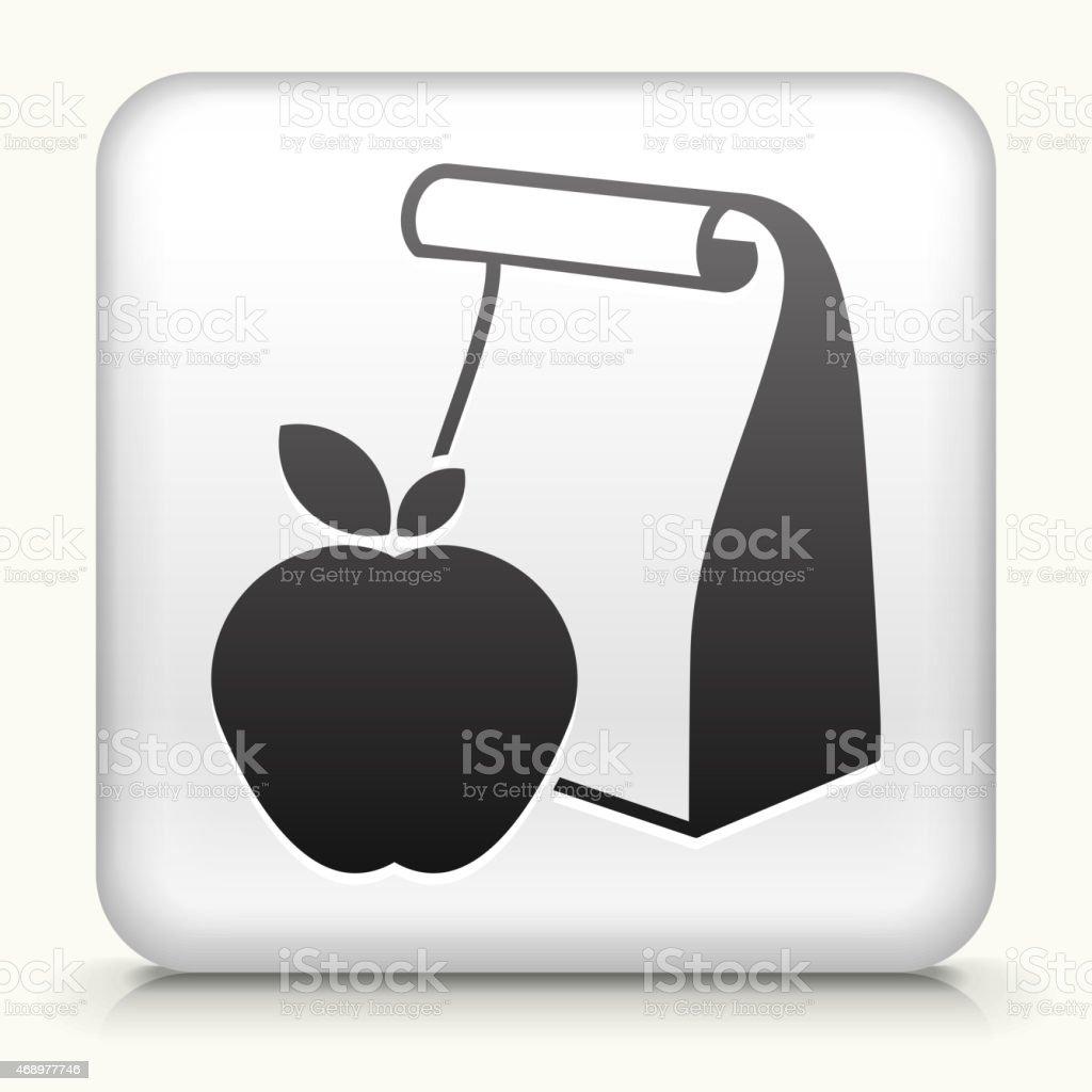 Sin royalties de vector de iconos de la escuela icono botón con almuerzo - ilustración de arte vectorial