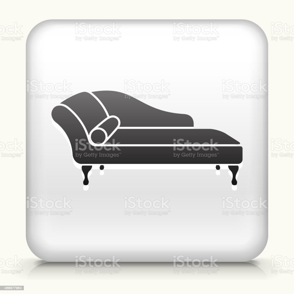 Royalty free vector icon button with Sofa Daybed vector art illustration
