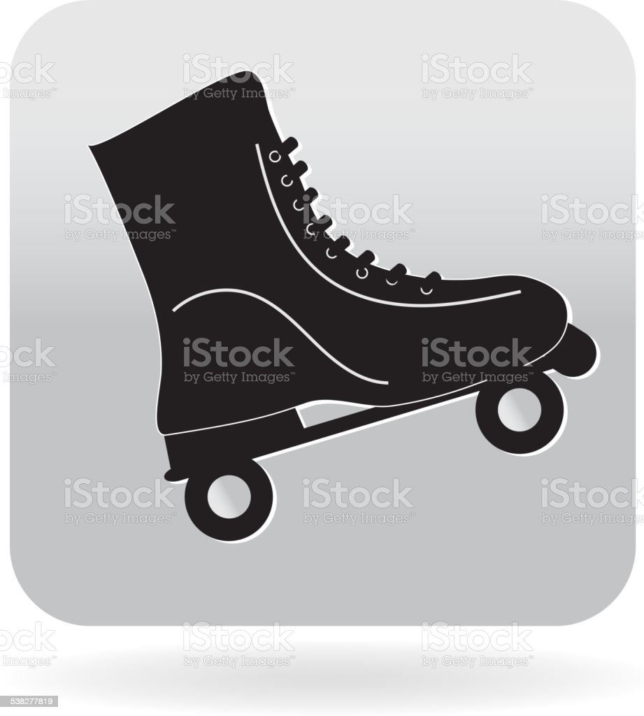 Royalty Free Vintage Roller Skate 80s Icon Stock Illustration Download Image Now Istock