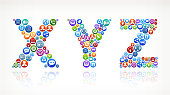 XYZ royalty-free vector Social Networking and Internet Icon Set