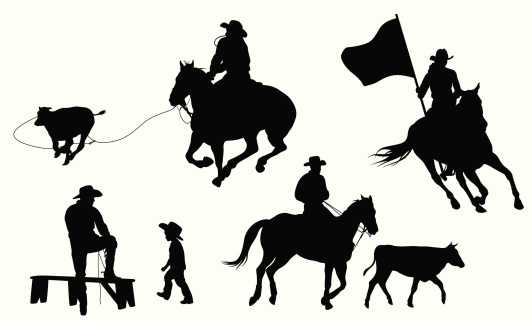 rrr Rodeo Vector Silhouette
