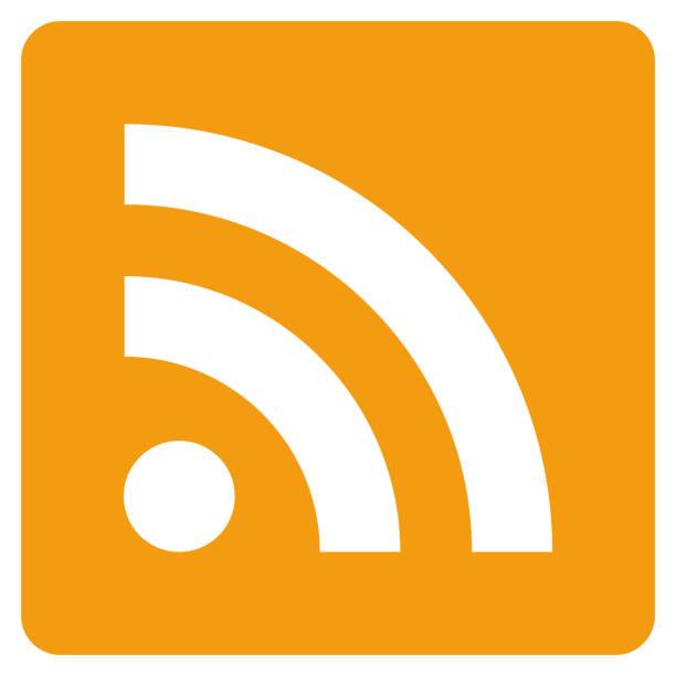 stockillustraties, clipart, cartoons en iconen met rss icon vector - bloggen