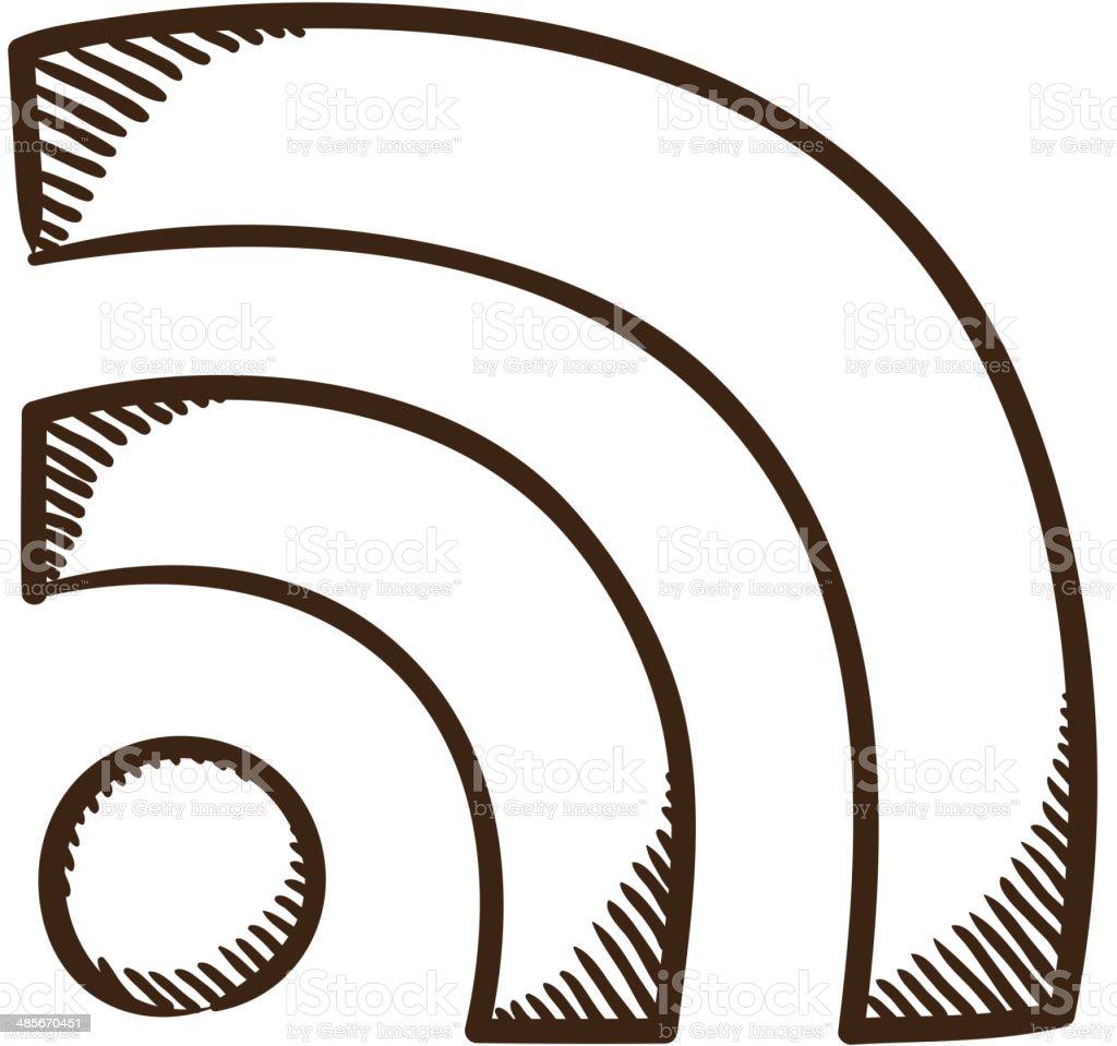 Rssdrahtsymbol Vektor Illustration 485670451   iStock
