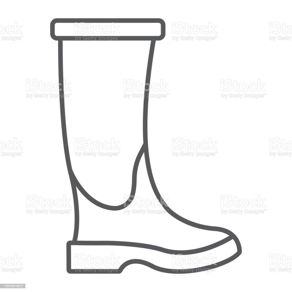 Icône Et De Fine Les Caoutchouc Chaussures Botte De En Ligne 0nwPk8O
