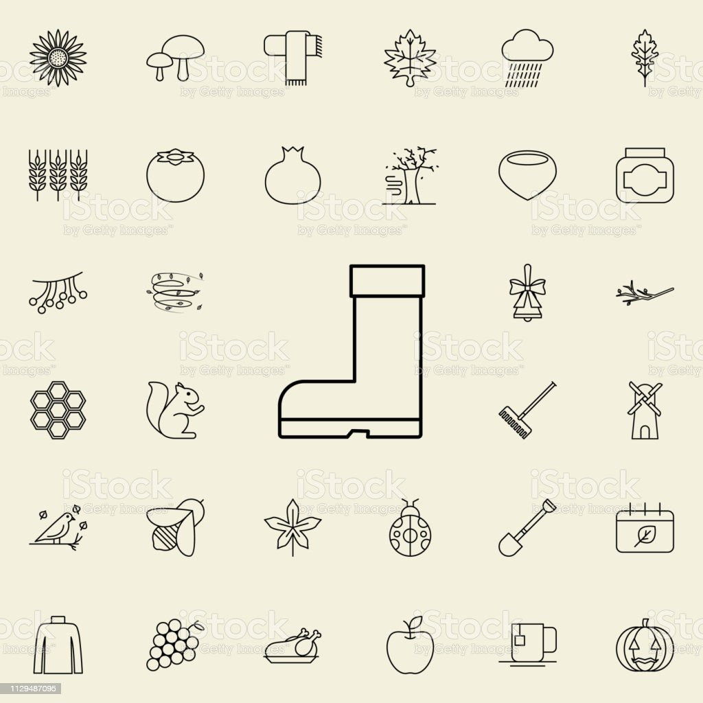 rubber boots icon. autumn icons universal set for web and mobile vector art illustration