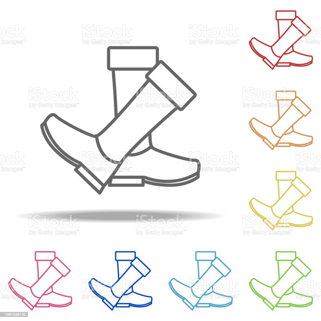 6d391cd63c rubber boots icon. Elements of Camping in multi colored icons. Simple icon  for websites