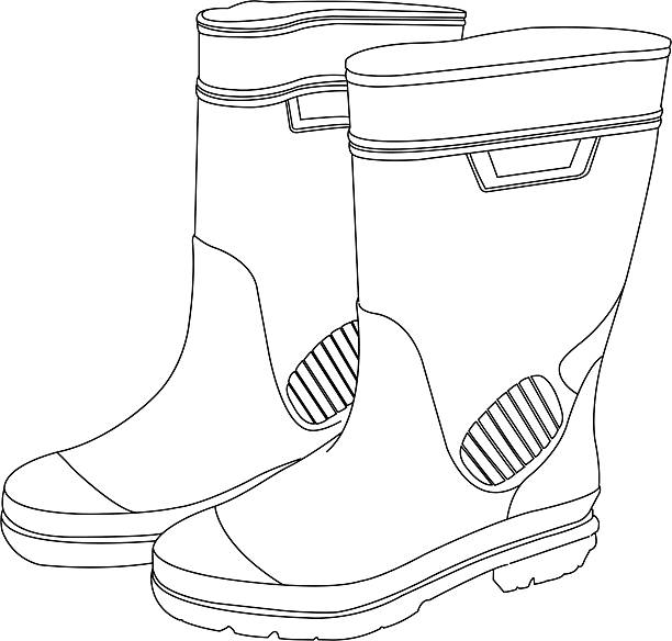 Drawing Lines With Latex : Royalty free work boot clip art vector images