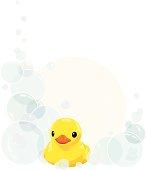 Rubber Duck and Bathtime Bubbles