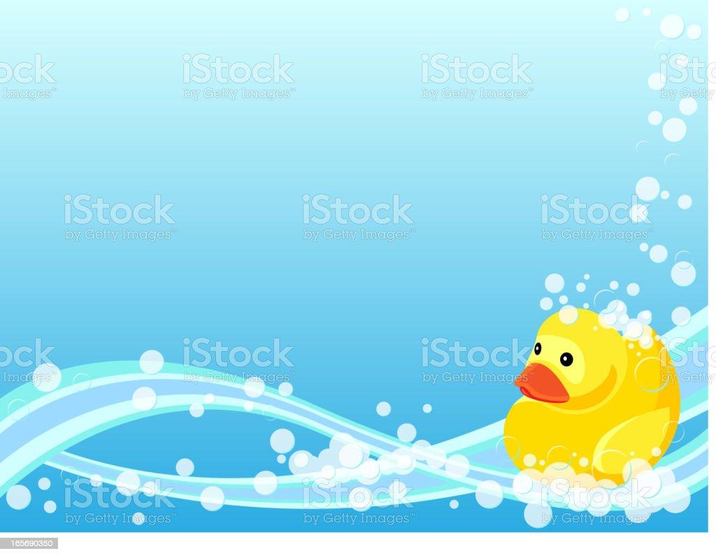 Rubber Duck Background vector art illustration