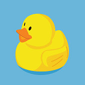 istock Rubber duck floating in water 1317358796