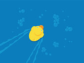 Rubber Duck Icon Flat - Illustration