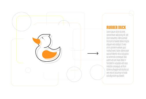 Rubber Duck Line Icon Design