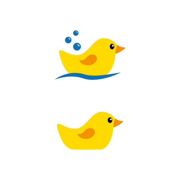 rubber duck a set of rubber duck icons duckling stock illustrations