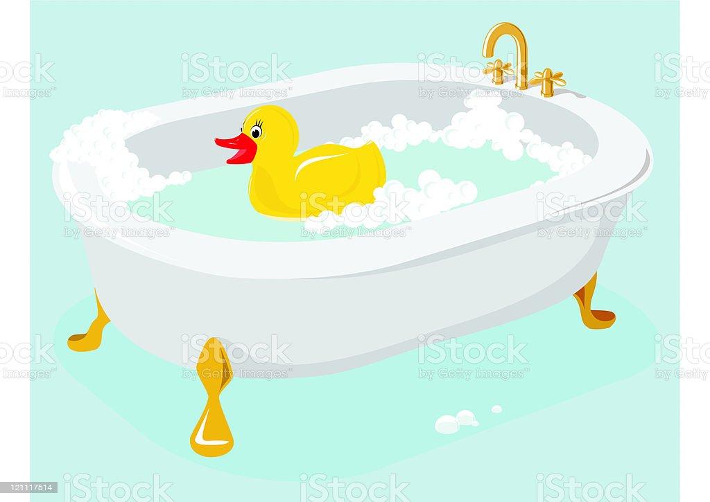 Rubber Duck vector art illustration