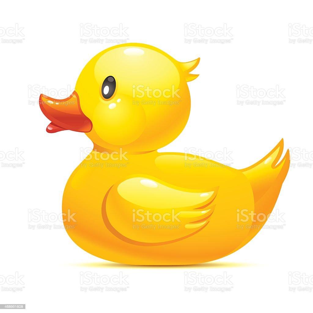 Pato de Borracha - ilustração de arte em vetor