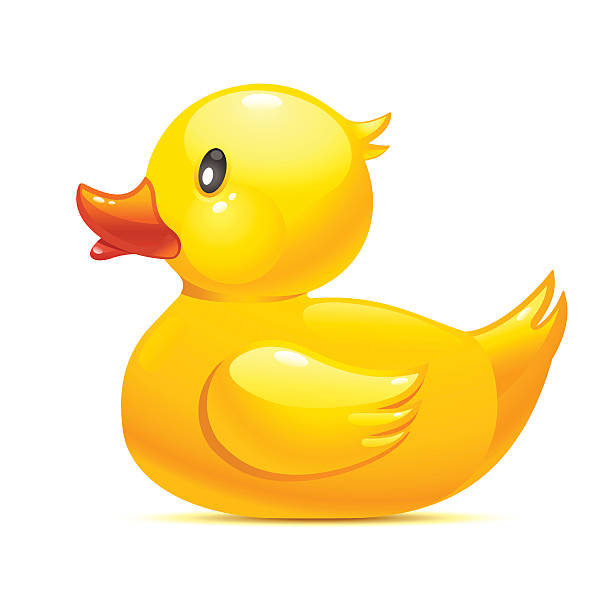 Rubber duck Rubber duck icon duck bird stock illustrations