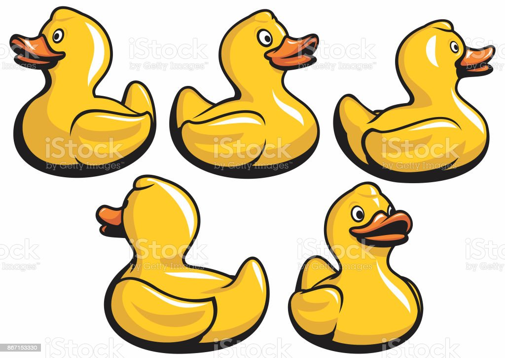 Rubber Ducks vector art illustration