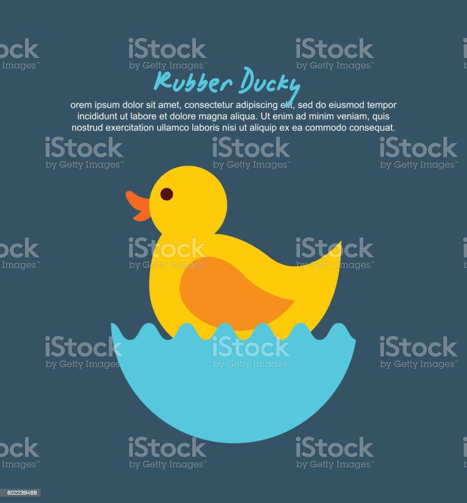 rubber ducky cartoon vector art illustration