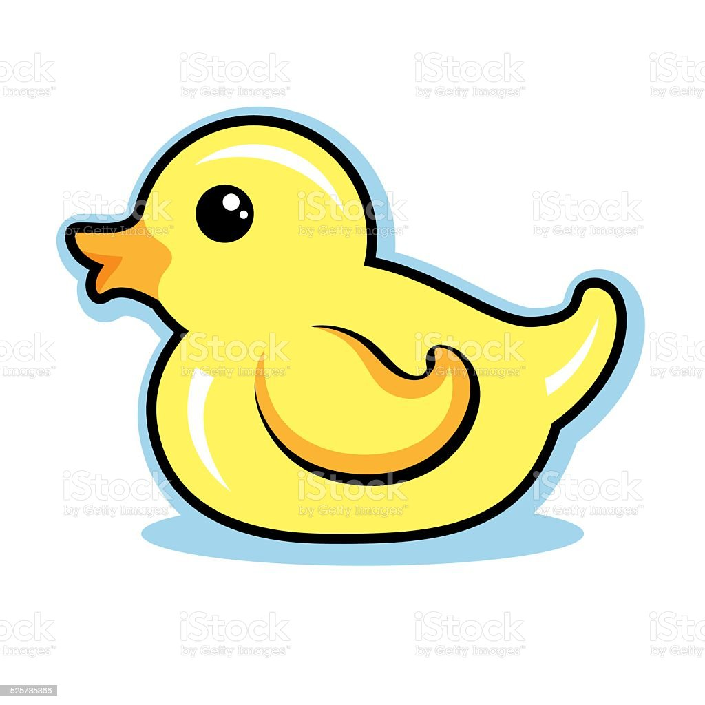 Rubber Ducky Vector Illustration Cute vector art illustration