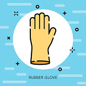 Rubber Glove Open Outline Cleaning Supplies Icon