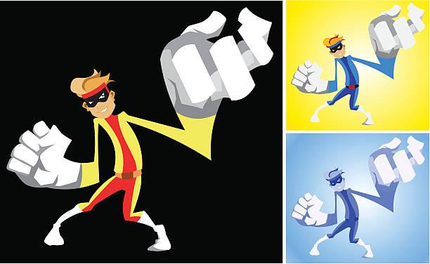 Rubber Man Character vector art illustration