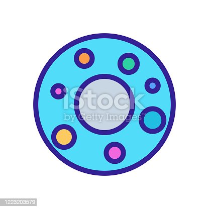 rubber ring donut icon vector. rubber ring donut sign. color symbol illustration